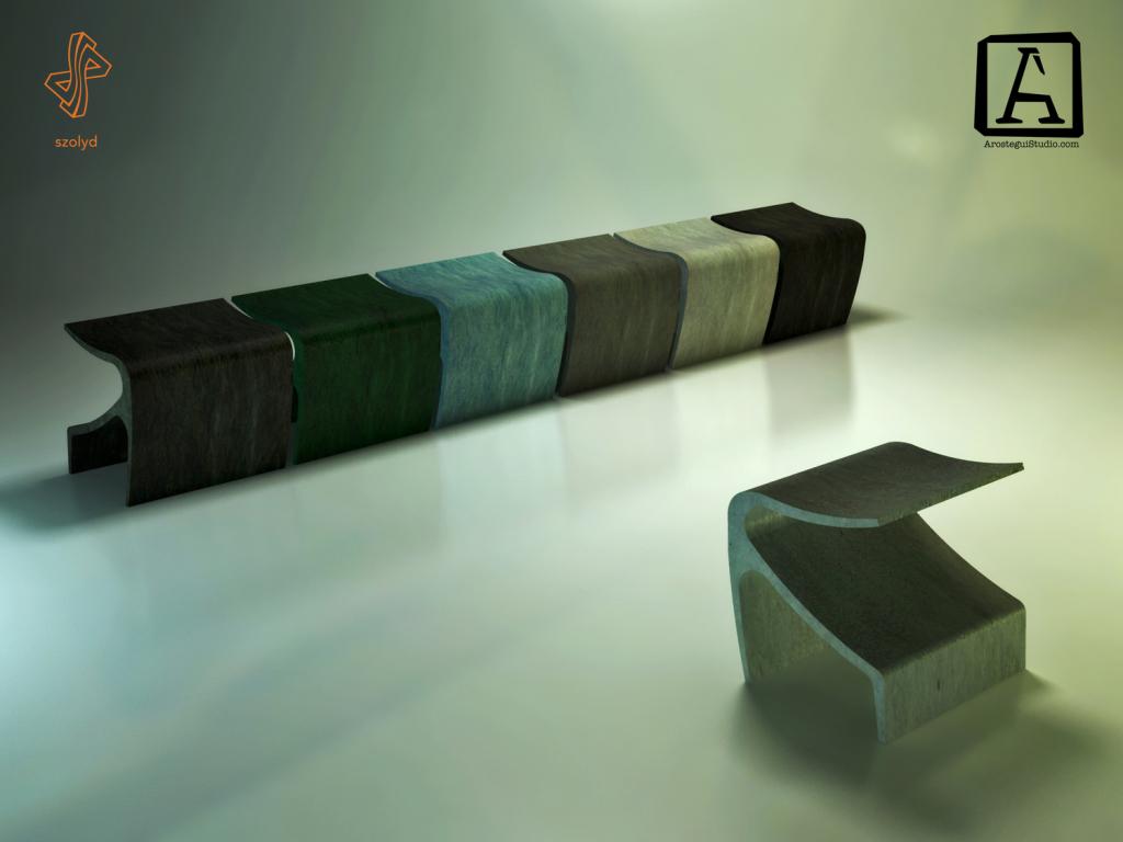 Concrete Bench by Arostegui Studio 2