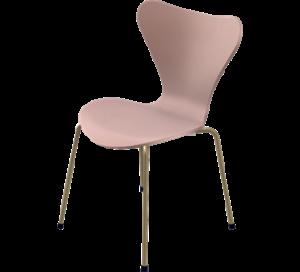 arne jacobson fritz hansen eye candy pink gold chair