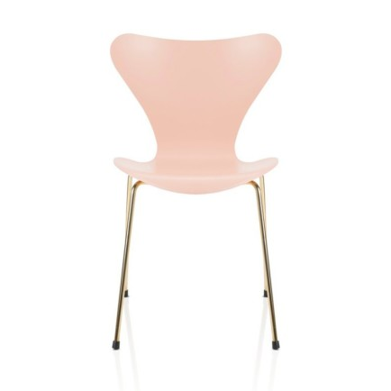 arne jacobson fritz hansen eye candy pink gold chair