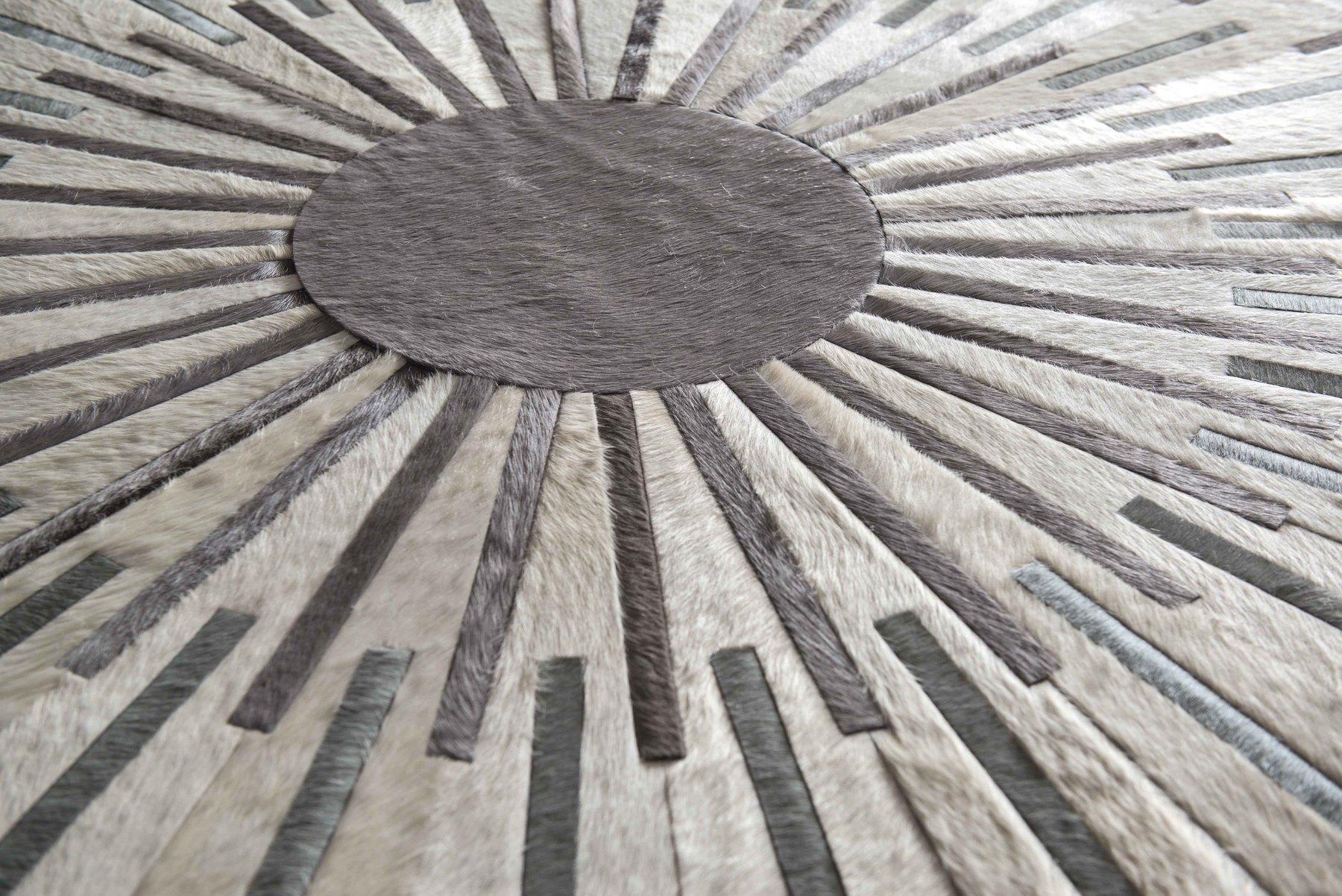 round hide rug