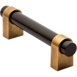 Brass gold black cabinet pull