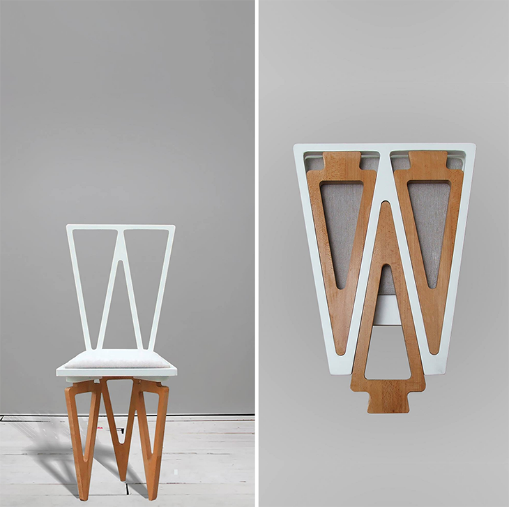 Charlie Pommier White Chair lifeMstyle