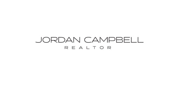 Jordan campbell realtor logo and business card lifemstyle we chose a very clean font and created a versatile but contemporary monogram for his brand we printed his business cards with gold foil and metallic inks colourmoves