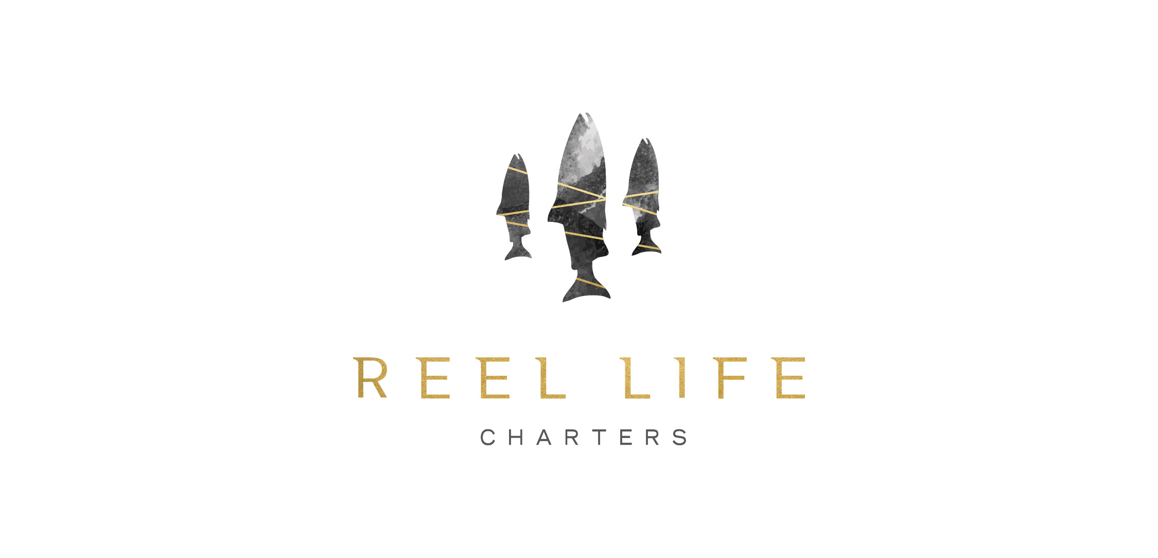 NEW LOGO, PRINT AND WEB DESIGN FOR REEL LIFE CHARTERS (SOOKE BC)