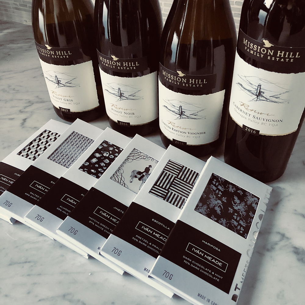 MISSION HILL WINES AND IVAN MEADE CHOCOLATES